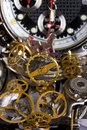 Mechanism is of disassembled wristwatch Royalty Free Stock Images