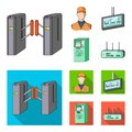 Mechanism,electric ,transport, and other web icon in cartoon,flat style. Pass, public, transportation, icons in set