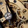 The mechanism of an old watch Stock Image