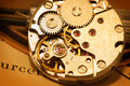 Mechanism of watch Stock Images