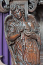 Mechelen carved angel statue with the effigy of christ from onze lieve vrouw va n hanswijkbasiliek church on september in Stock Photos