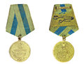 Medal for the capture of vienna with reverse side on a white background Royalty Free Stock Photos