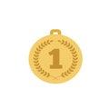 Medal gold color