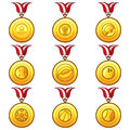 Medal icon sport illustration of a set Royalty Free Stock Images