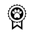 Medal with paw icon