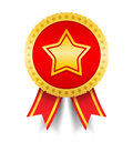 Medal with Star Royalty Free Stock Photos