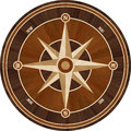 Medallion design parquet floor, compass rose Royalty Free Stock Photo