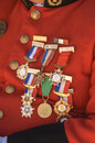 Medals chest of a man awarded with Stock Images