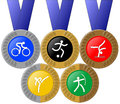 Medals and Rings Royalty Free Stock Image