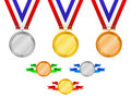 Medals set 3 Stock Image