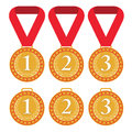 Medals set isolated objects on white background vector illustration eps Royalty Free Stock Photo