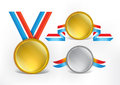 Medals template for awards etc Royalty Free Stock Images