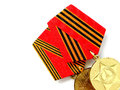 Medals for winning the war. Royalty Free Stock Photo