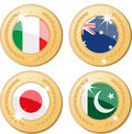 Medals of the world Royalty Free Stock Image