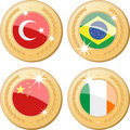 Medals of the world Royalty Free Stock Images