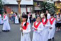 Medellin colombia via crucis easter in buenos aires district department of antioquia Royalty Free Stock Photo