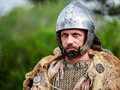 MEDGIDIA, ROMANIA - MAY 6, 2017. Dacian warriors at Dapyx Antique Festival - Medgidia who present habits, lifestyle and fighting t