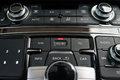 Media and air conditioner center button luxury car interior Stock Photo