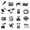 Media Black White Icons Set Royalty Free Stock Photo
