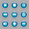 Media buttons Royalty Free Stock Photos