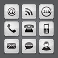 Media and communication button set icons vector illustration Royalty Free Stock Image