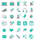 Media and Communication Icons Royalty Free Stock Image