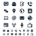 Media and communication icons simple clear sharp easy to resize no transparency effect eps file Royalty Free Stock Images