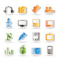 Media equipment icons Stock Images