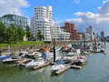 Media Harbor in Dusseldorf with buldings of Neuer Zollhof Royalty Free Stock Photo