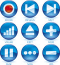 Media icon set (1of4) (vector) Royalty Free Stock Photography