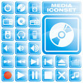 Media Icon Set Royalty Free Stock Photography