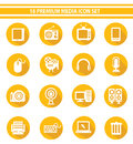 Media icon set yellow version Stock Photography