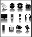 Media-icons Royalty Free Stock Photo