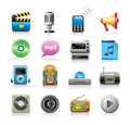 Media Icons Stock Images
