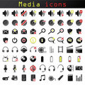 Media icons Stock Photography