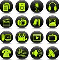 Media icons Stock Photos