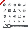 Media Icons // Basics Royalty Free Stock Photo