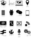 Media icons black vector eps Stock Photography