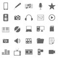 Media icons on white background stock vector Royalty Free Stock Photo