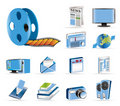 Media and information icons Stock Photography
