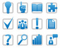 Media and information icons Royalty Free Stock Photo