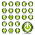 Media player buttons. Royalty Free Stock Photo