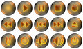 Media Player Buttons Stock Image