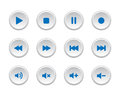 Media player buttons set of Stock Photos