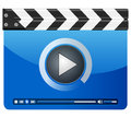 Media player clapper board Royalty Free Stock Photography