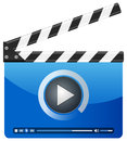 Media player clapper board Royalty Free Stock Photos