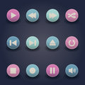 Media player web icons Royalty Free Stock Photo