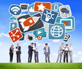 Media Social Media Social Network Internet Technology Online Con Royalty Free Stock Photo