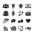 Media and social network icons