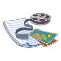 Media storage vector illustration of film folder pictures Royalty Free Stock Image